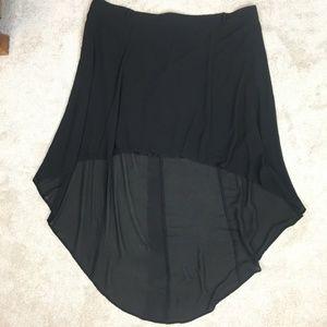 Torrid black high/low hem skirt- 24